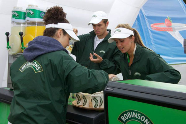 Justincase portable bar for Robinsons promotion in Wimbledon