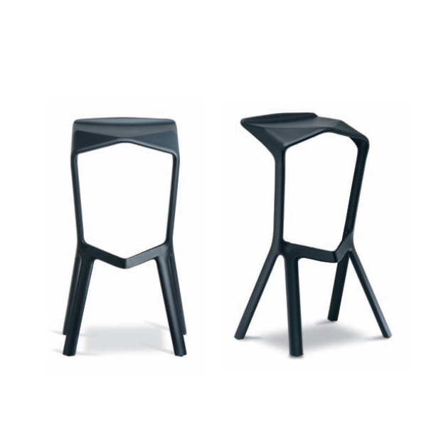Stackable bar stool designed by Konstantin Grcic for PLANK available in different colors