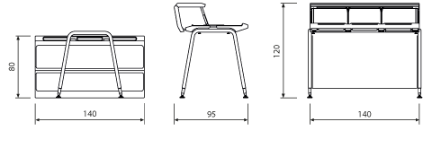 General dimensions of the bar unit