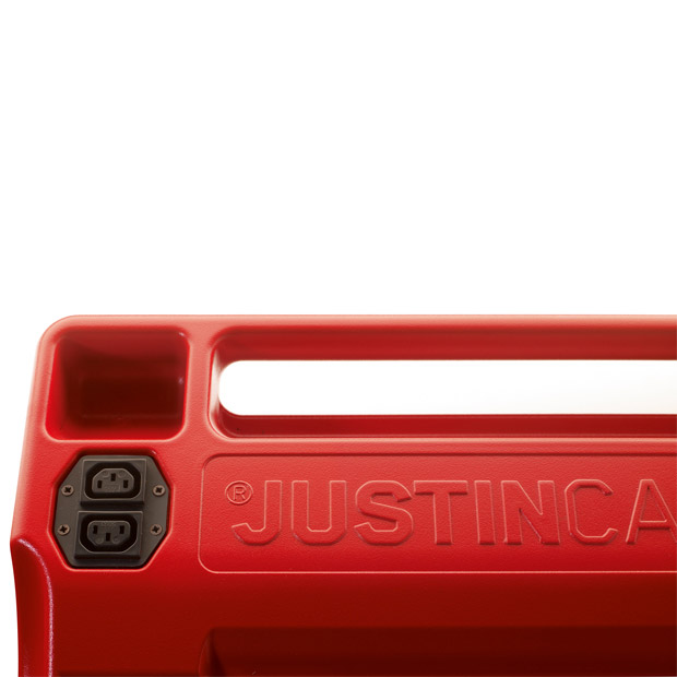 Another detailed view of the socket in the Justincase mobile bar